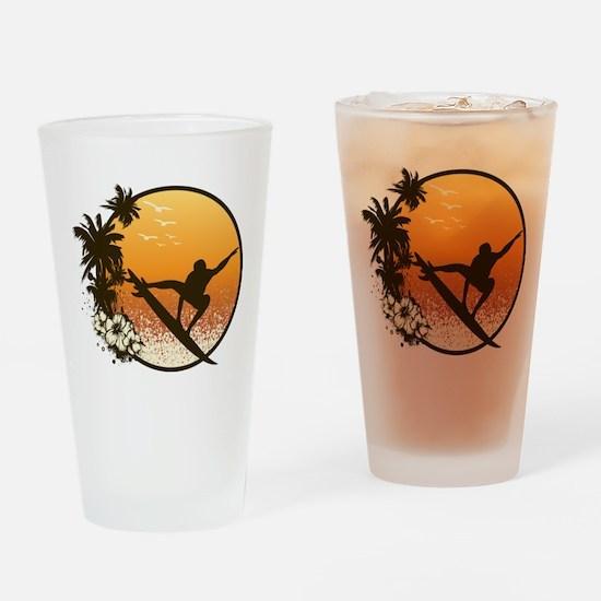 Tropics Surf Drinking Glass