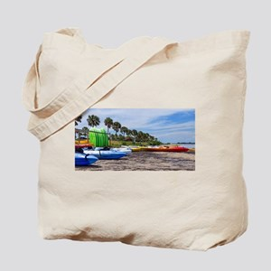 Kayak Beach Tote Bag