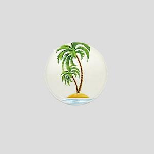 Palm Tree Mini Button
