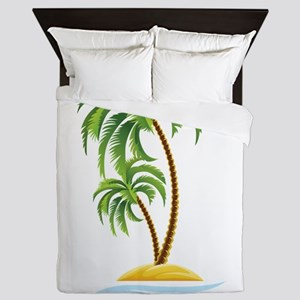 Palm Tree Queen Duvet