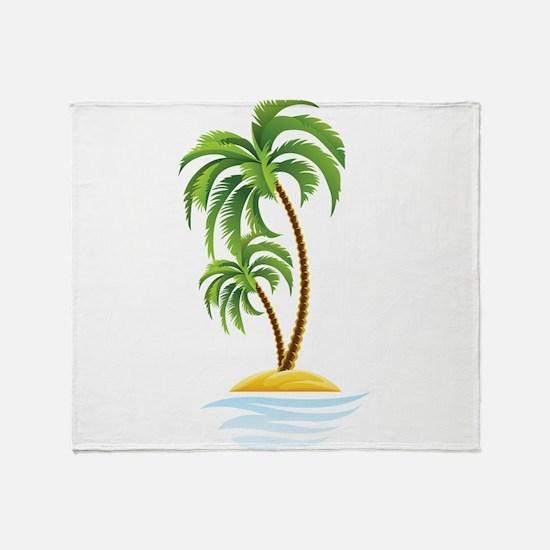 Palm Tree Throw Blanket