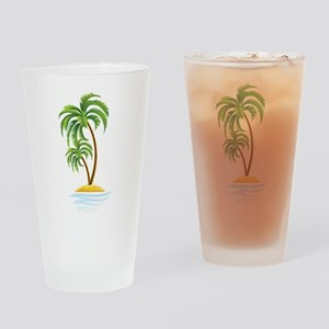 Palm Tree Drinking Glass