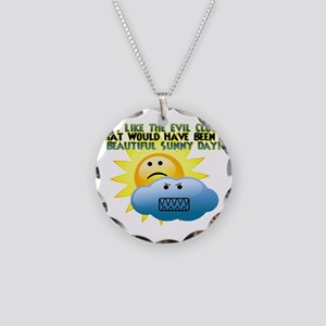 Evil Cloud Necklace Circle Charm