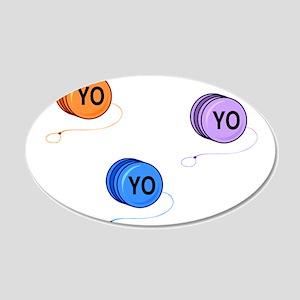 Yo Yo Yo 20x12 Oval Wall Decal