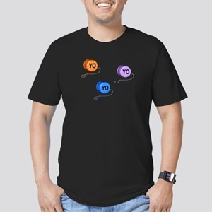 Yo Yo Yo Men's Fitted T-Shirt (dark)