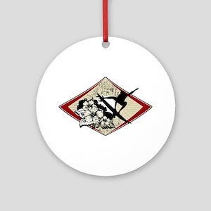 Hibiscus Surf Ornament (Round)