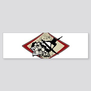Hibiscus Surf Bumper Sticker