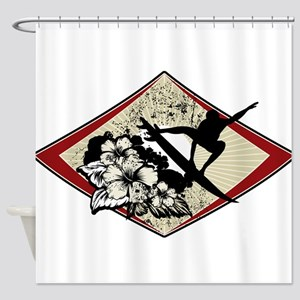 Hibiscus Surf Shower Curtain