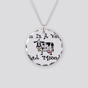 Bad Mooed Necklace Circle Charm