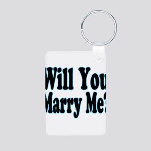 Will You Marry Me? His Aluminum Photo Keychain
