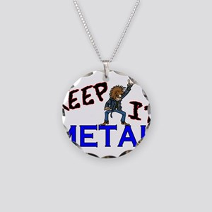 Keep It Metal Necklace Circle Charm