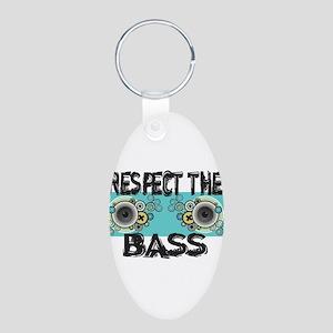 Respect The Bass Aluminum Oval Keychain