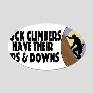 Rock Climbers 20x12 Oval Wall Decal