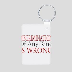 Discrimination Is Wrong Aluminum Photo Keychain