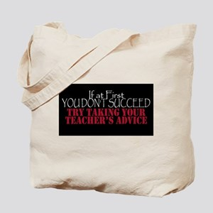 If At First You Don't Succeed - Black Tote Bag