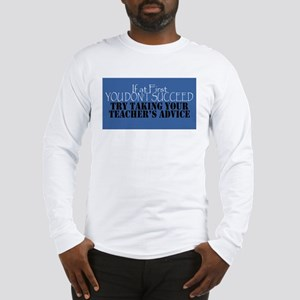 If At First You Don't Succeed - Blue Long Sleeve T