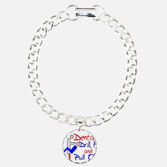 Dentists Drill Charm Bracelet, One Charm