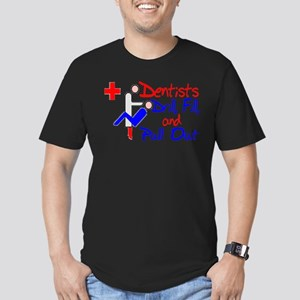 Dentists Drill Men's Fitted T-Shirt (dark)