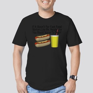 Fast Food Worker Men's Fitted T-Shirt (dark)