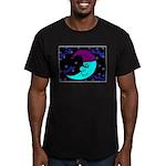 Sleepy Moonlight Men's Fitted T-Shirt (dark)