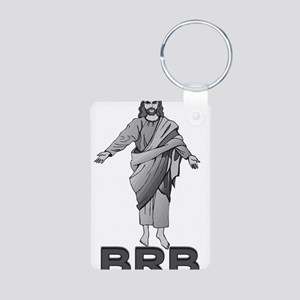 Jesus Will Be Right Back Aluminum Photo Keychain