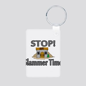 Stop Slammer Time Aluminum Photo Keychain
