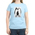 Multilingual Penguins Women's Pink T-Shirt