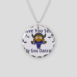 Gnu Dance Necklace Circle Charm