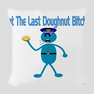 Last Donut Woven Throw Pillow