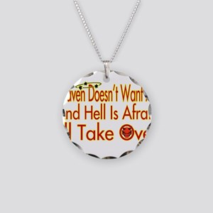 Heaven And Hell Necklace Circle Charm