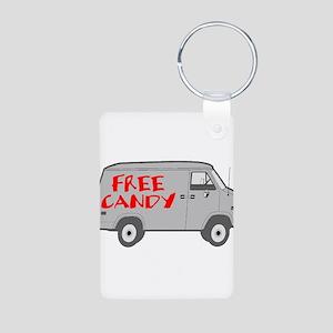 Free Candy Aluminum Photo Keychain