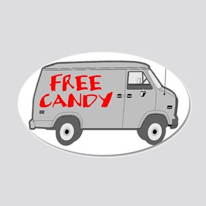 Free Candy 20x12 Oval Wall Decal