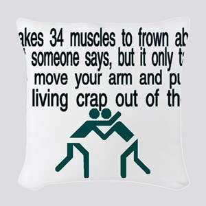Living Crap Woven Throw Pillow