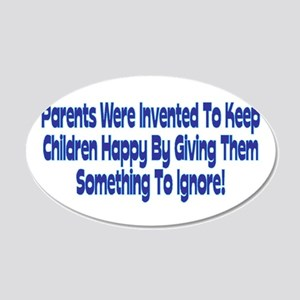 Parents Were Invented 20x12 Oval Wall Decal