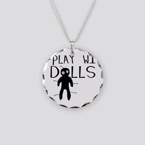 Play With Dolls Necklace Circle Charm