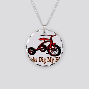 Dig My Ride Necklace Circle Charm