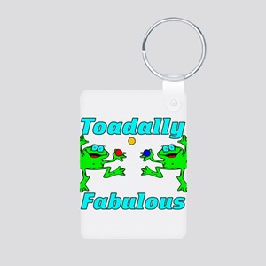 Toadally Fabulous Aluminum Photo Keychain