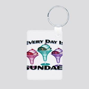 Sundae Everyday Aluminum Photo Keychain