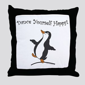 Dancing Penguin Throw Pillow
