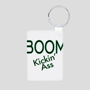 Boom Kickin' Ass Aluminum Photo Keychain