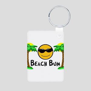 Beach Bum Aluminum Photo Keychain
