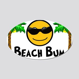 Beach Bum 20x12 Oval Wall Decal