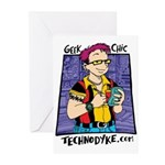 Geek Chic Greeting Cards (6) - $10 Dona