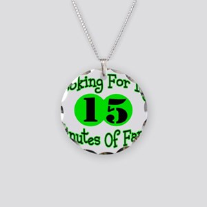 Minutes Of Fame Necklace Circle Charm