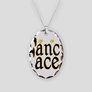 Fancy Face Necklace Oval Charm