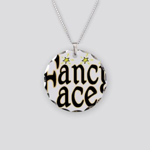 Fancy Face Necklace Circle Charm