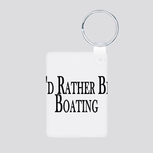 Rather Be Boating Aluminum Photo Keychain