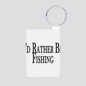 Rather Be Fishing Aluminum Photo Keychain