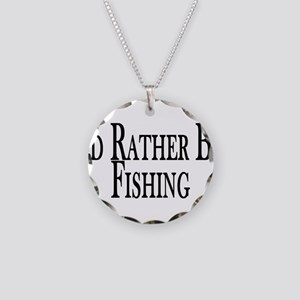 Rather Be Fishing Necklace Circle Charm