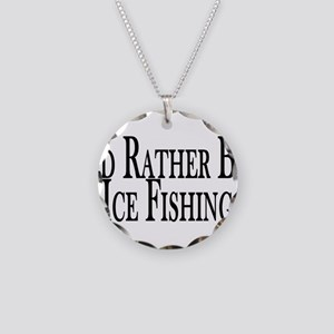 Rather Ice Fish Necklace Circle Charm